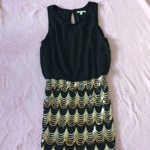 Black dress with sequence